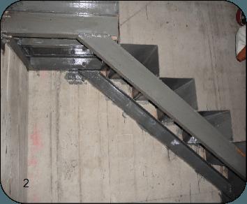 新增加钢结构转角楼梯