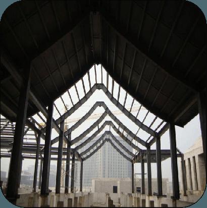 托普科技园四合院 钢结构工程案例-北京凯利恒钢结构