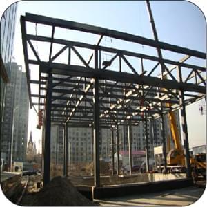 钢结构花架安装过程