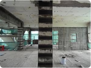 柱粘贴碳纤维加固