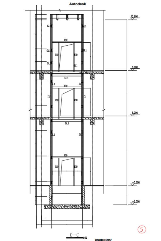 注:此方案为设计方案不作为施工依据。 一、工程概况: 本施工图为康乐健身房增设垂直电梯工程。楼板拆除为静力拆除,增加钢结构电梯井道,我公司在施工拆除中为了不对原结构产生损伤采用静力拆除的方式,拆除电梯洞口,钢结构电梯井道的安装等。 二、设计依据: 1、永大电梯设备(中国)有限公司: 型号:VANS- P 载重量:1000kg 2、《建筑结构荷载规范》(GB50009-2010) 3、《建筑抗震设计规范》(GB50011-2010) 4、《钢结构设计规范》(GB50017-2013) 5、《建筑钢