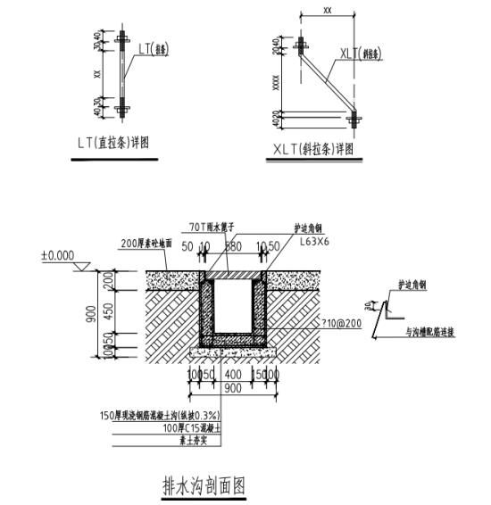 钢结构棚排水沟设计
