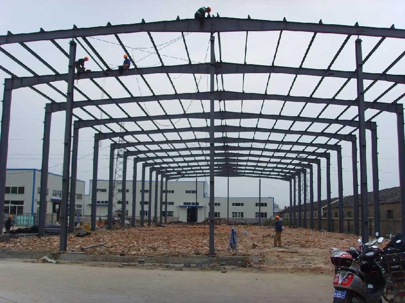 钢结构厂房工程结构柱加固