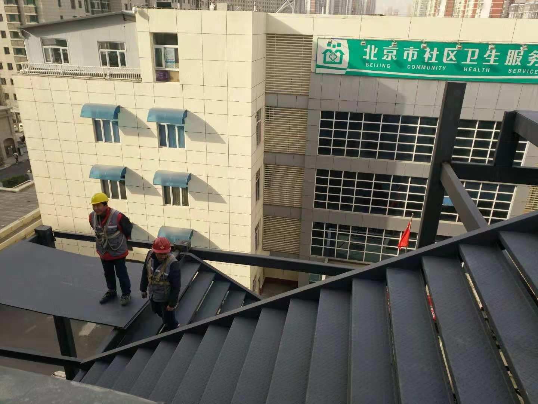 北京凯利恒江南集团小红门钢结构消防楼梯制作安装