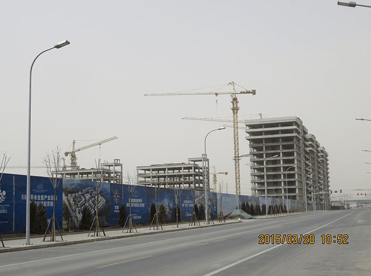 星光影视城招商中心南北楼拆除新增钢结构部分