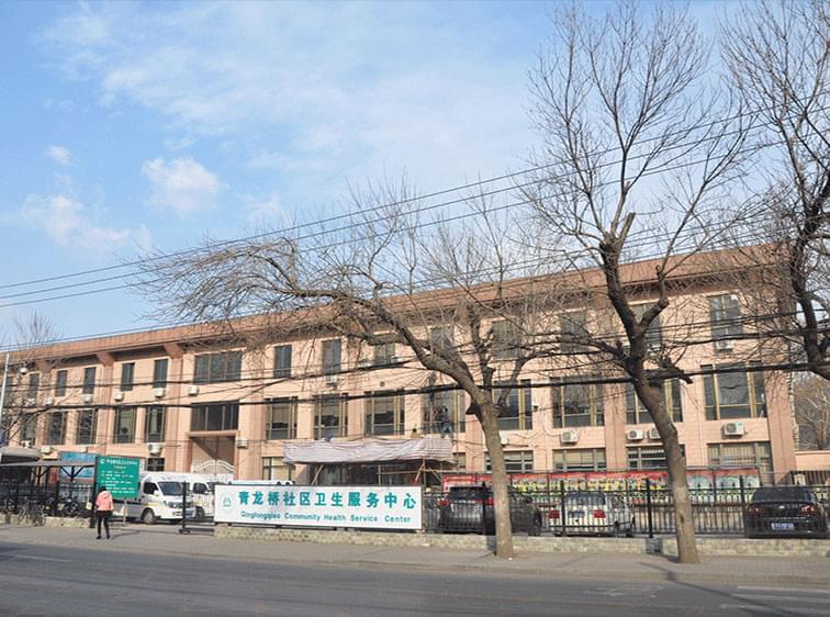 青龙桥社区卫生服务中心钢结构雨棚工程案例
