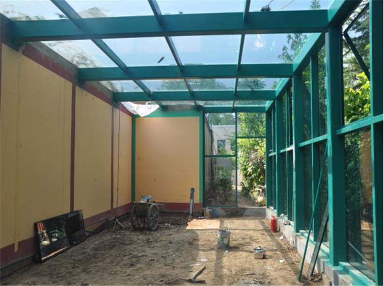 瀚河园路4#钢结构阳光房工程案例
